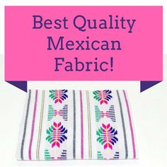 Mexican fabric by the yard, White Aztec fabric, Tribal fabric from Mexico