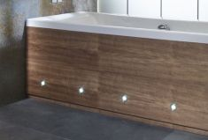 bath panel with spot lights