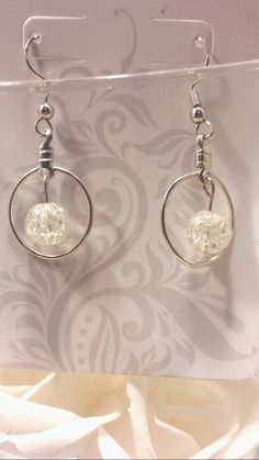 Crackle look french hook style earrings