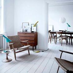 inspiration board | white painted hardwood floors