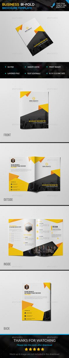 Business Bifold Brohure template