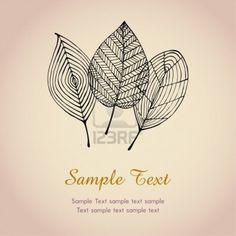 Autumn text background template with leaves  Illustration stylized graphic autumn leaves  Stock Photo - 15235922