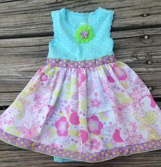 Baby Girl Dress Onesie Preppy  Modern Look. $30.00, via Etsy.