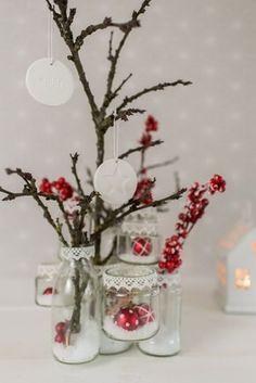 DIY upcycling Weihnachtsdeko aus Marmeladengläsern mit Tesa Powerstrips Transparent