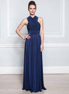Sapphire Long Twist & Wrap Dress - bridesmaid dresses - adult bridesmaids - adult bridesmaids - Wedding