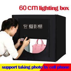 Discount! US $69.60  60*60cm LED Photo Lighting Box Photography Studio Light Tent Softbox +Portable Bag+AC Adapter for Jewelry Toys Shoting   #Photo #Lighting #Photography #Studio #Light #Tent #Softbox #+Portable #Bag+AC #Adapter #Jewelry #Toys #Shoting  #CyberMonday