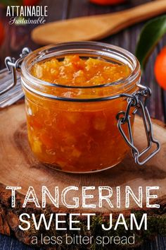 A twist on the usual, this tangerine marmalade recipe is less bitter than standard marmalade. You might even call it tangerine jam. Preserve the harvest for your DIY pantry.