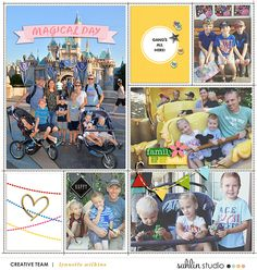 Magical Day digital project life double page using Project Mouse (Celebrate) by Britt-ish Designs and Sahlin Studio