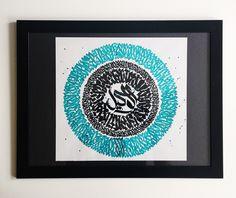 독특한 느낌의 아랍어 캘리그래피, 독일 커뮤니케이션 디자이너 네다 쿠바(Nedda Kubba)