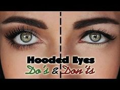 A makeup tutorial on the things you want to avoid with downturned, droopy hooded eyes, and some tips and tricks. Do's and Don'ts for hooded droopy eyes For t... #hoodedeyemakeup