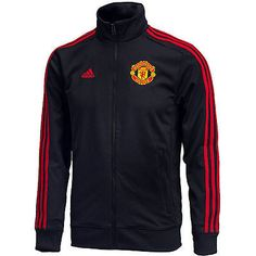 ADIDAS MANCHESTER UNITED 3 STRIPES TRACK JACKET 2015/16 Black/Red.
