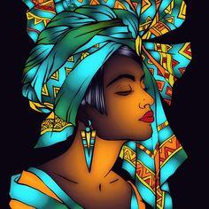 I made this on Recolor Black Love Art, Black Girl Art, Art Girl, Arte Black, African Art Paintings, Black Art Painting, Black Art Pictures, Africa Art, Magic Art