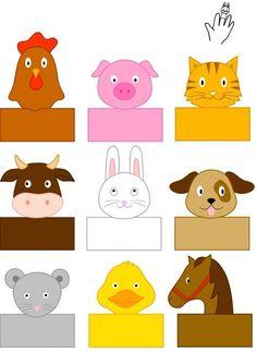 farm-animals-finger-puppets « Preschool and Homeschool Farm Animals Preschool, Farm Animal Crafts, Finger Puppet Patterns, Finger Puppets, Animal Activities, Preschool Activities, Paper Puppets, Art N Craft, Farm Theme