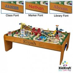 Personalized Train Table