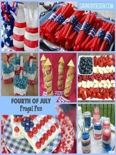 Looking for some frugal and fun 4th of July ideas and crafts to make your party just a little bit more special? Take a look at these!