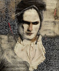 My Casanova by Francois Vassiviere, Abrasive paper, white ink, cutter pencil Art Du Collage, Mixed Media Collage, Figure Painting, Painting & Drawing, Face Art, Art Faces, Illustrations, Art Sketchbook, White Ink