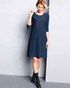 Eileen Fisher Washable Wool Scoop-Neck Dress - Petite