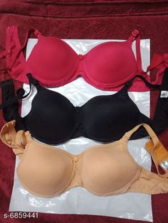 Checkout this latest Bra Product Name: *Women's Padded Bra Multipack of 3* Fabric: Hosiery Padding: Padded Multipack: 3 Sizes: 28A, 30A, 32A, 34A, 36A, 38A, 40A, 28B, 30B, 32B (Underbust Size: 11 in, Overbust Size: 11 in)  34B, 36B, 38B, 40B Country of Origin: India Easy Returns Available In Case Of Any Issue   Catalog Rating: ★3.9 (35705)  Catalog Name: Women's Padded Bra Combo CatalogID_1094991 C76-SC1041 Code: 193-6859441-669