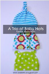 Free pattern: Baby hat in three styles · Sewing | CraftGossip.com