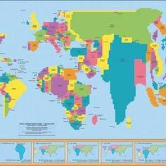40 maps they didnt teach you in school pinterest school the world population map is a cartogram poster providing students a unique view of the earth the size of each country is shown in proportion to its gumiabroncs Gallery