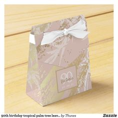 Shop birthday tropical palm tree leaves pink white favor box created by Thunes. Personalize it with photos & text or purchase as is! 30th Birthday Party For Her, 80th Birthday, Birthday Favors, Glitter Wedding, Rose Wedding, Gold Glitter, Baby Shower Roses, Birthday Roses, Favor Boxes