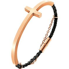 FOLLI FOLLIE Carma rose gold-plated woven bracelet (74 AUD) ❤ liked on 092a58b92ce