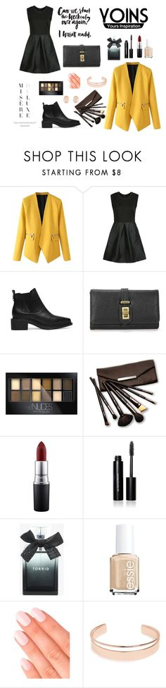 """""""Untitled #8"""" by asija25 ❤ liked on Polyvore featuring WithChic, Maybelline, Borghese, MAC Cosmetics, Bobbi Brown Cosmetics, Torrid, Essie, Elegant Touch, Leith and Kenneth Jay Lane"""