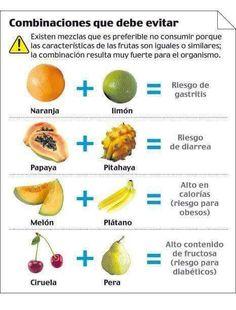 Evita estás combinaciones de frutas