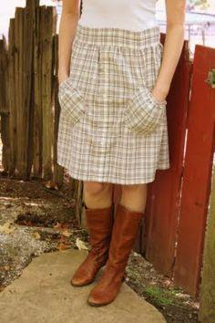 Men's Shirt--Skirt Refashion DIY