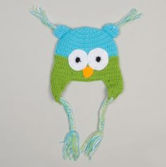 Owl Hat (0-12months)