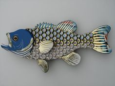 Metal Bottle Cap Wall Art  Large Mouth Bass 3 by EricsEasel, $200.00