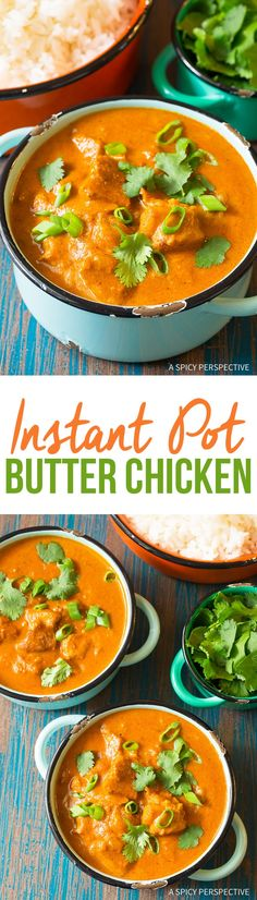 Diahanne VanGulick: Perfect Instant Pot Butter Chicken Curry Recipe - An easy pressure cooker Indian recipe made in a hurry. Classic butter chicken is an all-time favorite and this recipe does not disappoint! Butter Chicken Curry, Indian Butter Chicken, Instant Pot Pressure Cooker, Pressure Cooker Recipes, Pressure Cooking, Garam Masala, Chicken Thigh Recipes, Curry Recipes, Soup Recipes