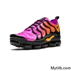 check out 380f7 ed351 Nike Air Vapormax TN Plus 2018 Pink Yellow Black Gradient Women Nike Air  Vapormax, Yellow