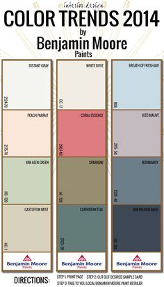2014 Interior Design Color Trends with Benjamin Moore (The color gospel per Benjamin Moore for 2014)