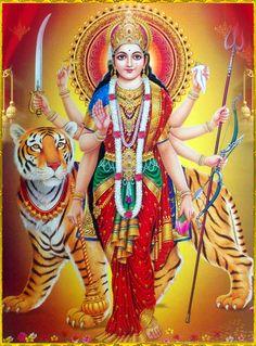 Goddess Durga (Reprint on Paper - Unframed) Maa Durga Photo, Maa Durga Image, Durga Kali, Shiva Hindu, Shiva Art, Shiva Shakti, Hindu Deities, Hindu Art, Durga Picture