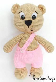 Amigurumi Bear Pattern Crochet Bear Pattern di VenelopaTOYS