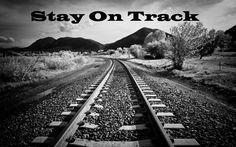 How do you keep yourself on track?