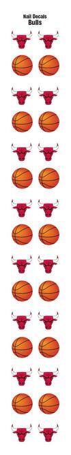 Chicago Bulls Nail Sticker Decals