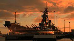 Battleship USS Missouri (BB-63) permanently moored at Pearl Harbor, Hawaii