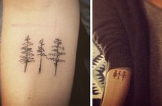 FYeahTattoos.com — Three tiny trees - designed by Britta Albrecht,...