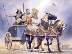 A Three Man Hittite Chariot