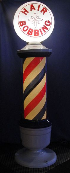 """Paidar Electric """"Hair Bobbing"""" 1920's Barber Pole from 5starantiques on Ruby Lane"""
