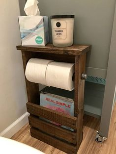 Beautiful and unique handmade rustic/ industrial bathroom organizer. 3 in 1 magazine holder double toilet paper holder and shelf Dimensions: aprox. H L W 5 Top dim. Bar length with caps is Shipping with UPS Ground FedEx Home Delivery or USPS Priority Free Standing Toilet Paper Holder, Bathroom Toilet Paper Holders, Bathroom Shelves Over Toilet, Bathroom Toilets, Small Bathroom, Bathroom Ideas, Diy Toilet Paper Holder, Industrial Toilets, Rustic Toilets