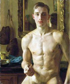 Konstantin Somov - The Boxer (1933) Konstantin Andreyevich Somov (Russian: Константин Андреевич Сомов, November 30, 1869 — May 6, 1939) was a Russian artist associated with the Mir iskusstva. Born into a family of a major art historian and Hermitage Museum curator Andrey Ivanovich Somov, he became interested in the 18th century art and music at an early age. Somov studied at the Imperial Academy of Arts under Ilya Repin from 1888 to 1897. While at the Academy, he befriended Alexandre…