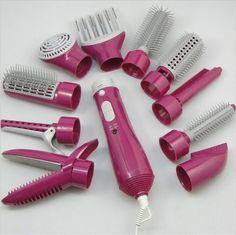 Tenazas para Rizar el cabello Plancha de Pelo Peine Cepillo Masajeador Herramienta secador de pelo Peines