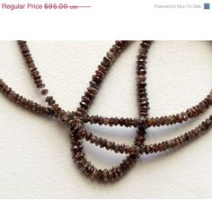 ON SALE 33% 10 Beads Brown Diamonds  Faceted by gemsforjewels