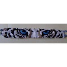 Bracelet inscription/dessin Yeux de tigre blanc