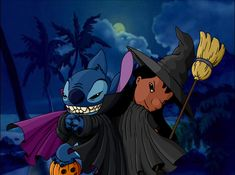 Lilo & Stitch (C) Disney Lilo and Stitch Halloween Halloween Wallpaper Iphone, Wallpaper Iphone Disney, Cute Disney Wallpaper, Cute Cartoon Wallpapers, Wallpaper Wallpapers, Mobile Wallpaper, Lilo And Stitch 2002, Lilo Et Stitch, Disney Stitch