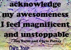 Jon Satin and Chris Pattay quote from the Own Your Awesome Event