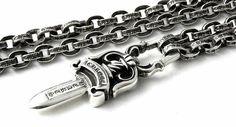 Chrome Hearts Dagger x Paper Chain Necklace